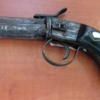 3 Barrel Flintlock Collectible Antique GUN for sale
