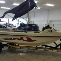 All Fibre Lezure Boat and Trailer,super clean