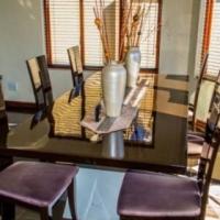Large modern black Dining table