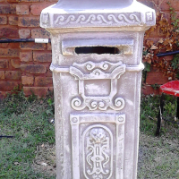Concrete postbox