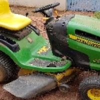 John Deere 115 ride-on lawnmower