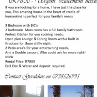 Urgent rental For a 3 Bedroom home, I have just the place for you, heart of cradle of humankind