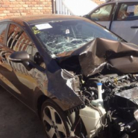 salvage/accident kia rio