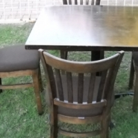 Dining room table and 4 Woodlam chairs