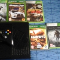 Xbox 360 with 5 games controller