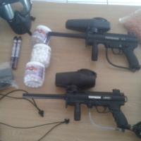 2 x Tippmann A5 Paintball Guns with loads of Accesories