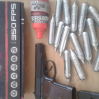 Gangster Guerilla air gun with accessories