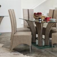 Caroline 8 Piece Dining Suite with Leather Seats