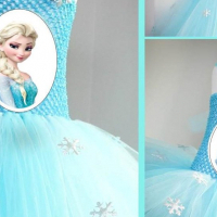 Frozen Tutu Dress - 7 - 8 yYears