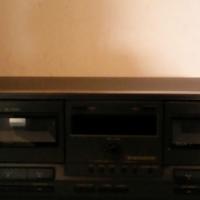 A technics double cassette deck.