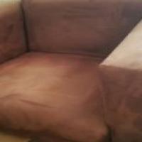 Suede lounge suite