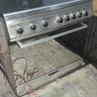5 plaat gas stoof elektriese oond met thermofan
