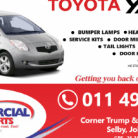 Toyota Yaris Replacement parts available