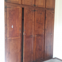 Big bedroom with build in cupboards to let in Savoy Estate