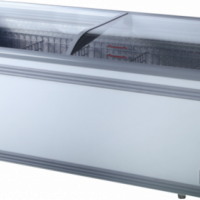 Freezer VISI TOP CURVED GLASS ISLAND  1000L