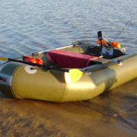 Inflatable boat with Trolling motor and accssories.