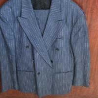 Light blue striped suit