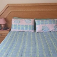 Double bed headboard with matching dressing table
