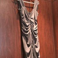 Brown gray dress