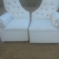 King and Queen wedding couches for hire