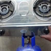 Gas bottel met 2 plaat