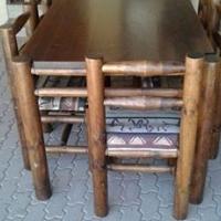 6 sitplek palestel ( 1 stoel se sitplek het kraak in)