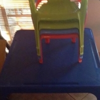 Kids play table with 4 chairs