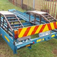 Car trailer 4m double axle for sale