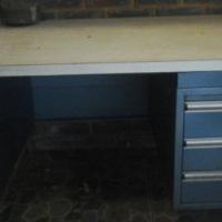 Blue Steel 3 Drawer Desk