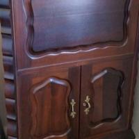 Imbuia ball and claw liquor cabinet