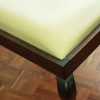 Imbuia ball and claw pedestal seat