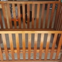 Antique wooden cot