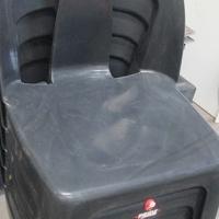 black plastic chairs