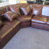 Leather Touch Corner Couch