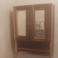Bathroom Mirror, cupboards, hanging rails etc