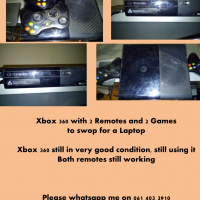 XBox 360 with 2 remotes & 2 Games