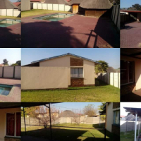 3 Bedroom house with swimming pool, lapa, paving and 3 carports and a garage