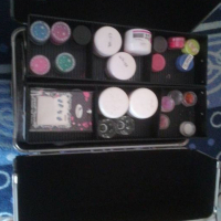 Fold open makeup or nail case