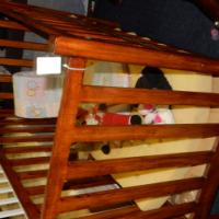Wooden Antique Baby Crib