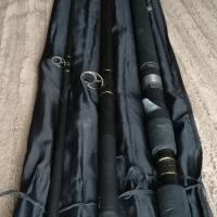 Fin-nor 14ft graphite vis stok met pen katrol