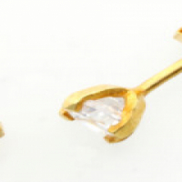 9CT SOLID GOLD 3MM STUD EARRINGS WITH CUBIC ZIRCONIA