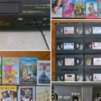 R450  60 Video tapes with Panasonic video machine.