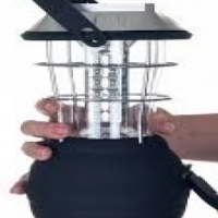 Solar LED Lantern with Solar Panels - Great for Camping and Farm Use