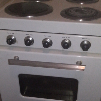 Allied stove, white, fully functional, good condition