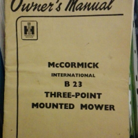 McCormick B23, three- point mounted mower: Manual