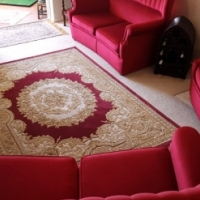 Rose Velvet High Back Lounge Suite