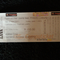 2 x rock on the lawns ft the pixies tickets