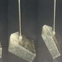 Trash Scoop - Galvanised Metal