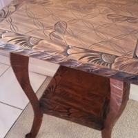 Vintage Antique Side Lamp Table Carved...