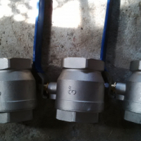 3 by 3 icnh new galvanise ball valves for sale